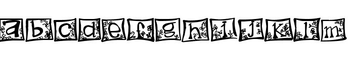 indezonefont - creative Font LOWERCASE