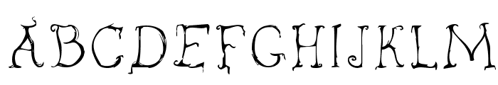 inky Font UPPERCASE