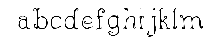 inky Font LOWERCASE