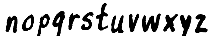 inkyflutterby Font LOWERCASE