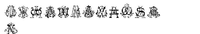 Intellecta Monograms AAAS Font UPPERCASE