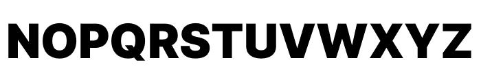 Inter Black Font UPPERCASE