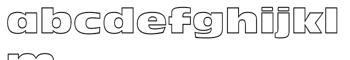 Incised 901 Nord Outline Font LOWERCASE