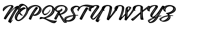 Indie Inline Font UPPERCASE