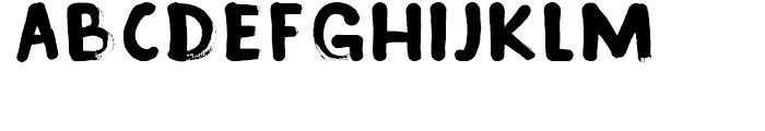 Inky Fingers Regular Font UPPERCASE