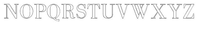 Intellecta Bodoned Outline Font UPPERCASE