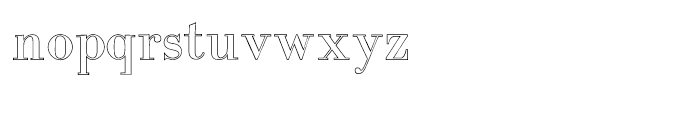 Intellecta Bodoned Outline Font LOWERCASE