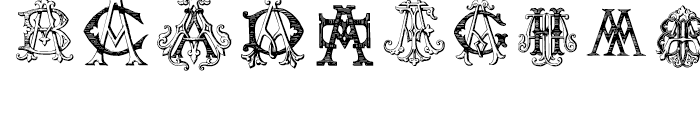 Intellecta Monograms AAAS Font OTHER CHARS