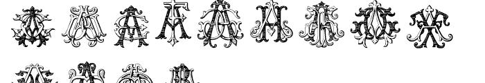 Intellecta Monograms AAAS Font UPPERCASE