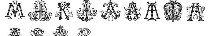 Intellecta Monograms AAAS Font LOWERCASE