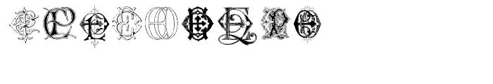 Intellecta Monograms EAEZ Font OTHER CHARS