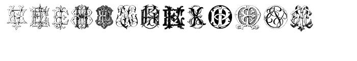 Intellecta Monograms EAEZ Font UPPERCASE