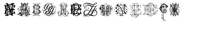 Intellecta Monograms EAEZ Font LOWERCASE