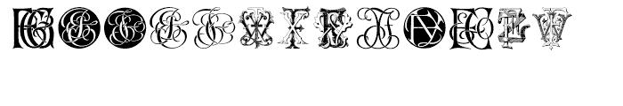 Intellecta Monograms FEGY Font UPPERCASE