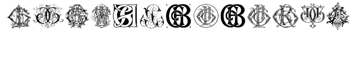 Intellecta Monograms FEGY Font LOWERCASE