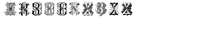 Intellecta Monograms Soft ZAZZ Font OTHER CHARS