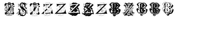 Intellecta Monograms Soft ZAZZ Font LOWERCASE