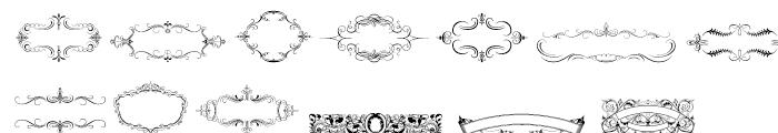 Intellecta Ribbons Regular Font UPPERCASE