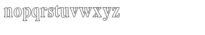 Intellecta Romana Humanistica Outline Font LOWERCASE