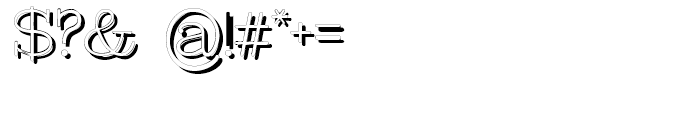 Intellecta Typewriter Typewriter Shadow Font OTHER CHARS