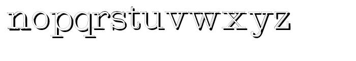 Intellecta Typewriter Typewriter Shadow Font LOWERCASE