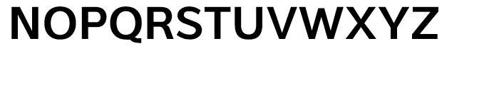 Interval Sans SemiBold Font UPPERCASE