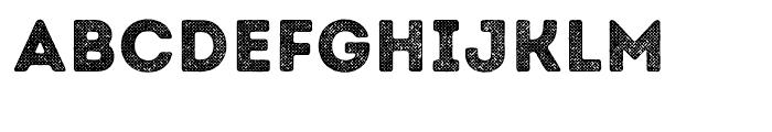 Intro Rust Halftone 2 Font UPPERCASE