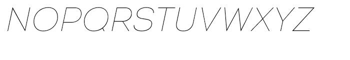 Intro Thin Italic Font UPPERCASE