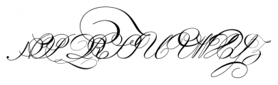 IndentureEnglishPenman Regular Font UPPERCASE