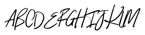 Indigo Blue Italic Font UPPERCASE