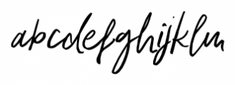 Indigo Blue Italic Font LOWERCASE