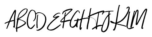 Indigo Blue Regular Font UPPERCASE