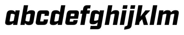 Industry Black Italic Font LOWERCASE