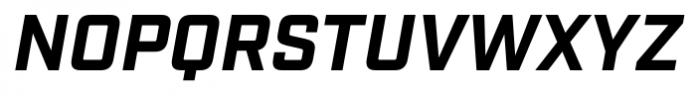 Industry Bold Italic Font UPPERCASE