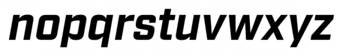 Industry Bold Italic Font LOWERCASE