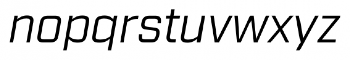Industry Book Italic Font LOWERCASE