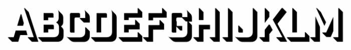 Industry Inc 3D Font UPPERCASE