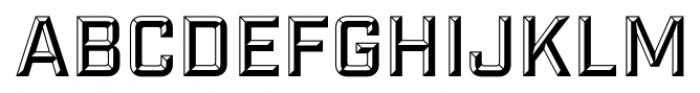 Industry Inc Bevel Font UPPERCASE