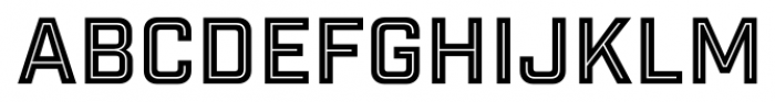 Industry Inc Inline Font UPPERCASE