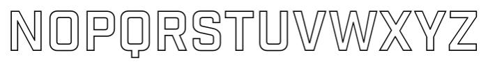 Industry Inc Outline Font UPPERCASE