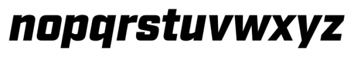 Industry Ultra Italic Font LOWERCASE