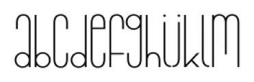 Infantometric Pro Light Font LOWERCASE