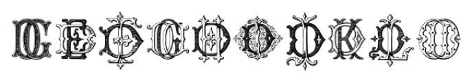 Intellecta Monograms DDDP Regular Font OTHER CHARS