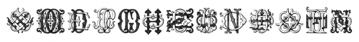 Intellecta Monograms DDDP Regular Font UPPERCASE