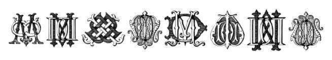 Intellecta Monograms DDDP Regular Font LOWERCASE