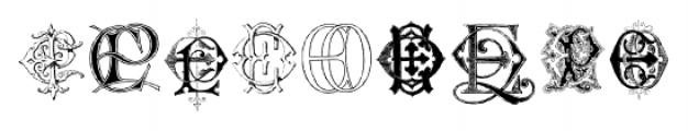 Intellecta Monograms EAEZ Regular Font OTHER CHARS