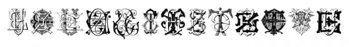 Intellecta Monograms EAEZ Regular Font UPPERCASE