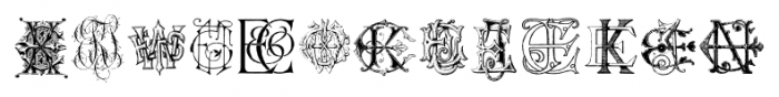 Intellecta Monograms EAEZ Regular Font LOWERCASE