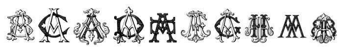 IntellectaMonograms AAAS Regular Font OTHER CHARS