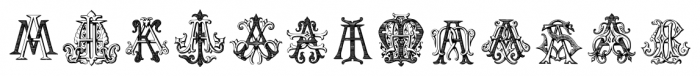 IntellectaMonograms AAAS Regular Font LOWERCASE